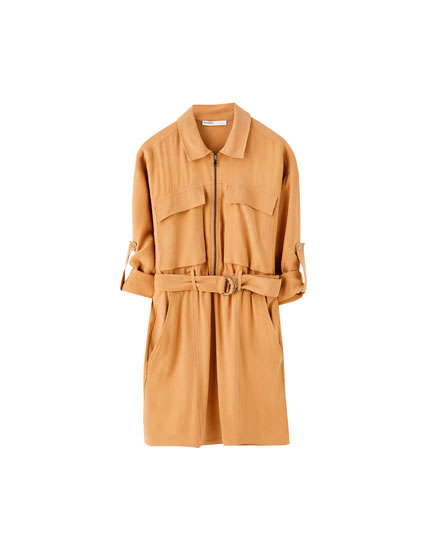 Long sleeve utility dress