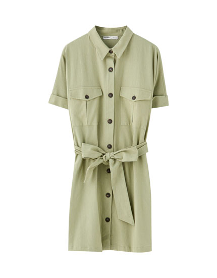 Korte shirtdress