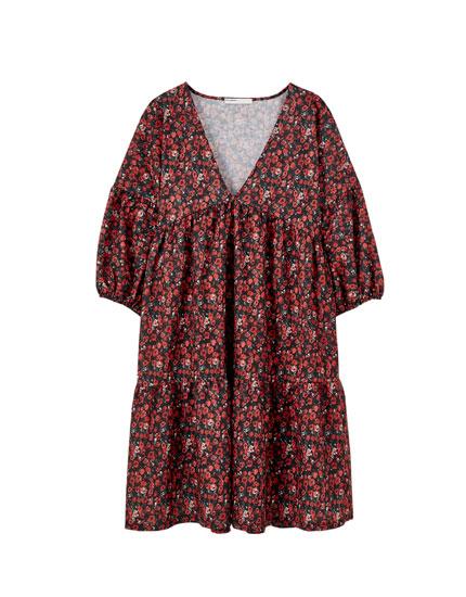 Φόρεμα oversized εμπριμέ