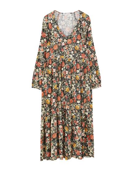 Μακρύ λουλουδάτο φόρεμα