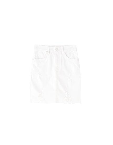 Minifalda vaquera rotos
