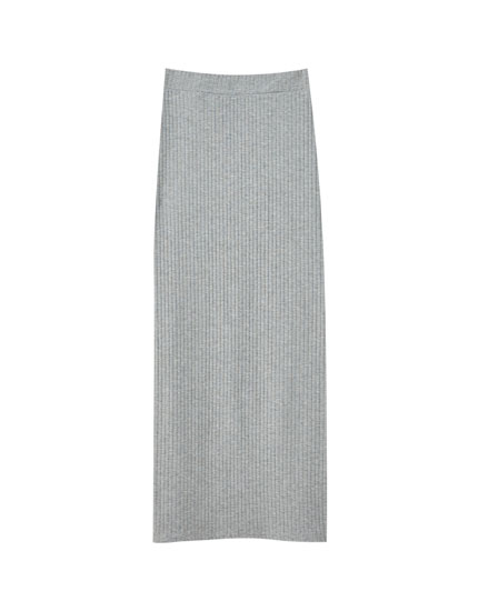 Basic ribbed skirt