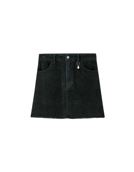 Minifalda pana colores