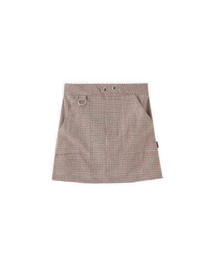 Minifalda cuadros arandela