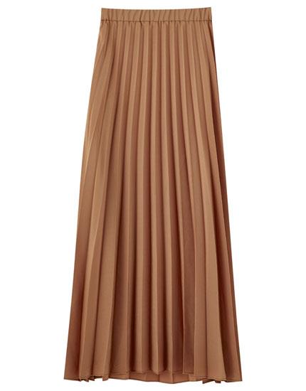 Falda midi plisada básica