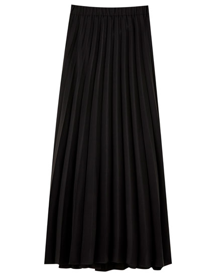 Basic pleated midi skirt