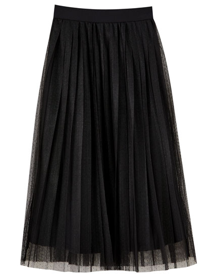 Tulle midi skirt in a range of colours