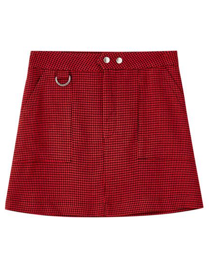 Minifalda básica cuadros