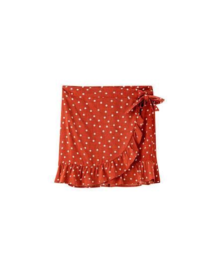 Polka dot sarong skirt