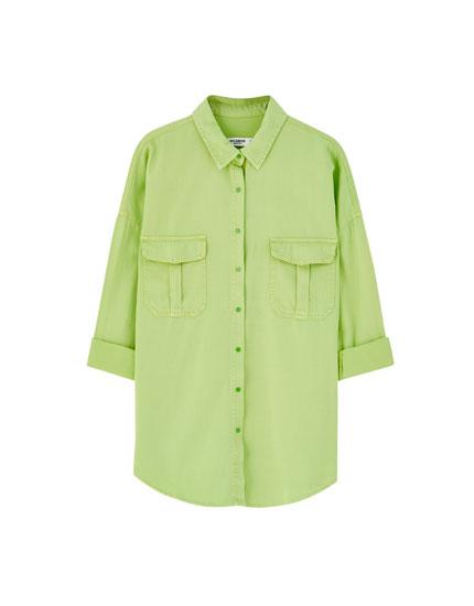 Camisa oversize vaquera colores