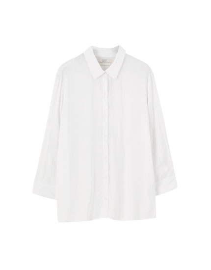 Plain 3/4 sleeve shirt