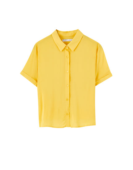Basic short sleeve coloured shirt