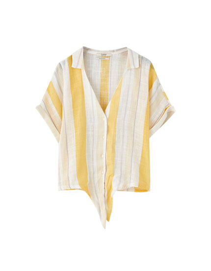 Striped rustic shirt