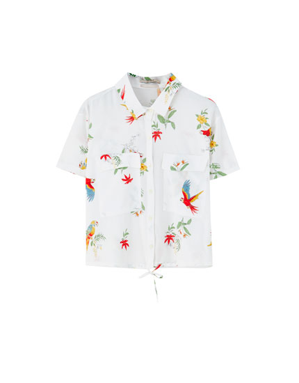 Short sleeve parrot shirt