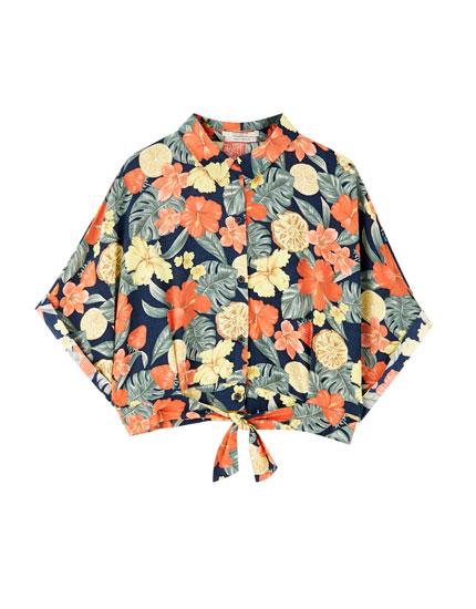 Camiseta frutas manga corta