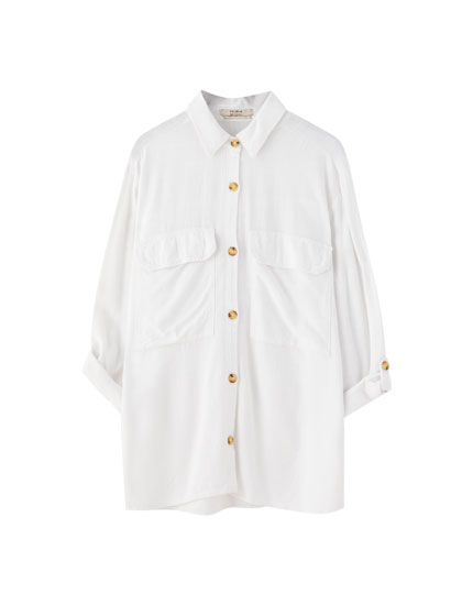 Rustic shirt with front pockets