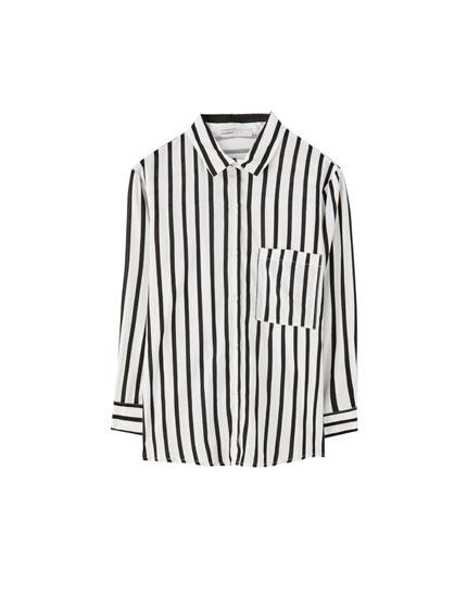 Camisa manga francesa viscosa