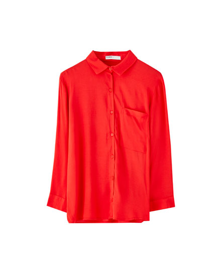 3/4 sleeve viscose shirt