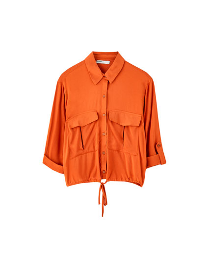 3/4 sleeve shirt with pockets
