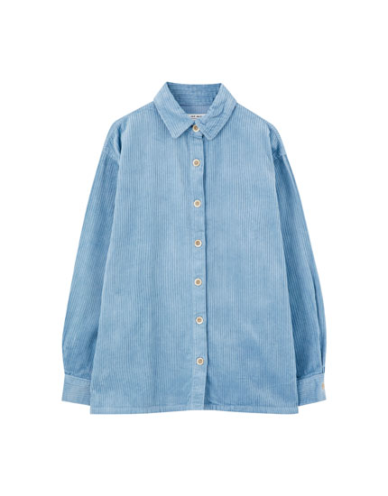 Basic coloured corduroy shirt