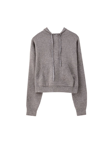Sweatshirt i strik