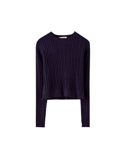 Basic cable-knit sweater