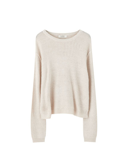 Basic chunky knit sweater