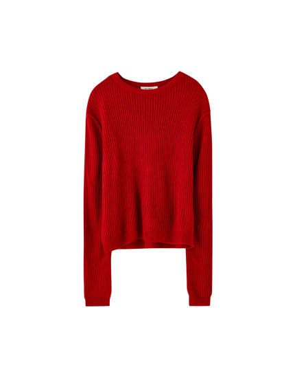 Basic chunky knit sweater