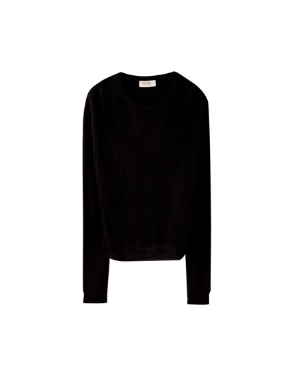 Pull basique grosse maille