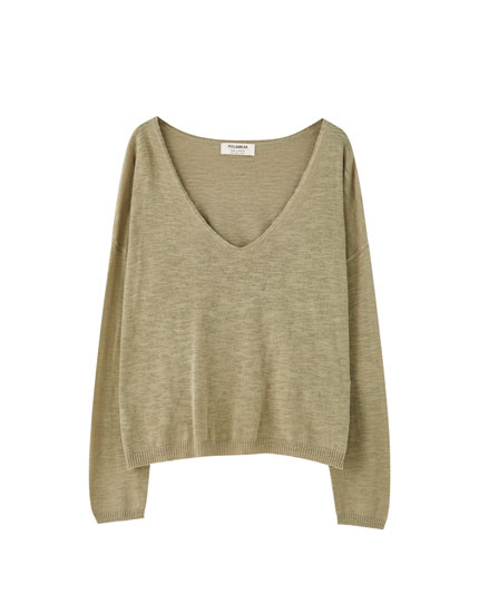 Lightweight slub knit sweater