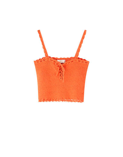 Crochet top with straps