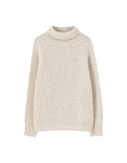 Soft high neck sweater