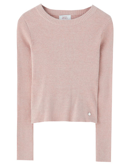 Basic colourful round neck sweater