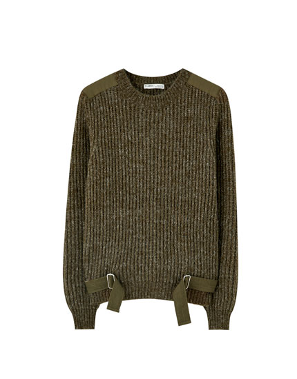 Sweater with combined straps
