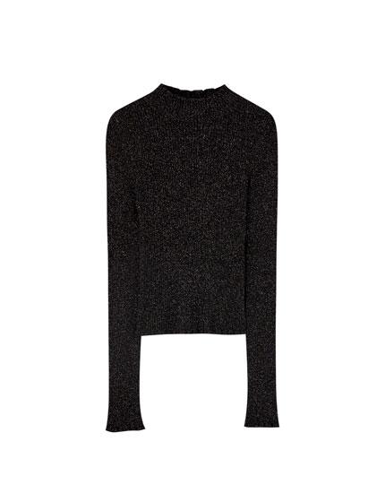 Jersey negro brillo