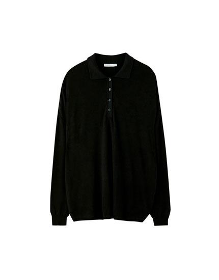 Oversized polo neck sweater
