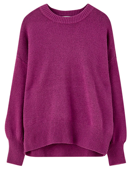 Oversized puff sleeve sweater