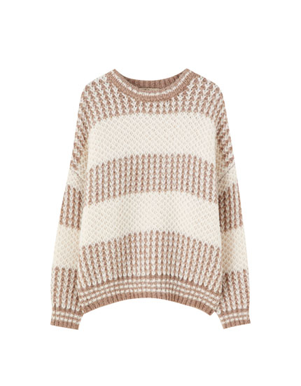 Soft piqué sweater
