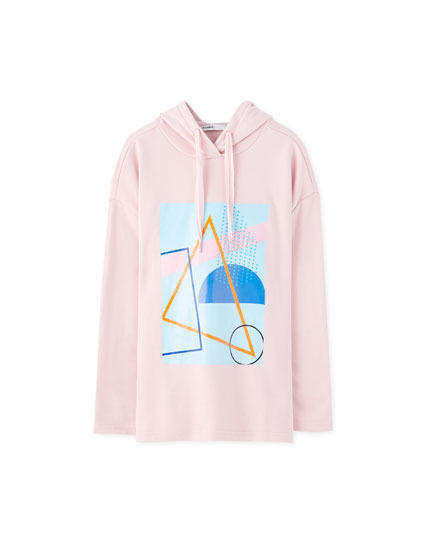 Loose-fitting hoodie with graphic