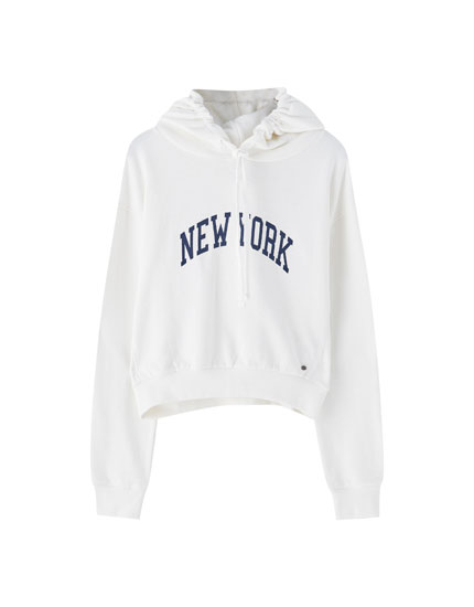 Sweatshirt branca New York