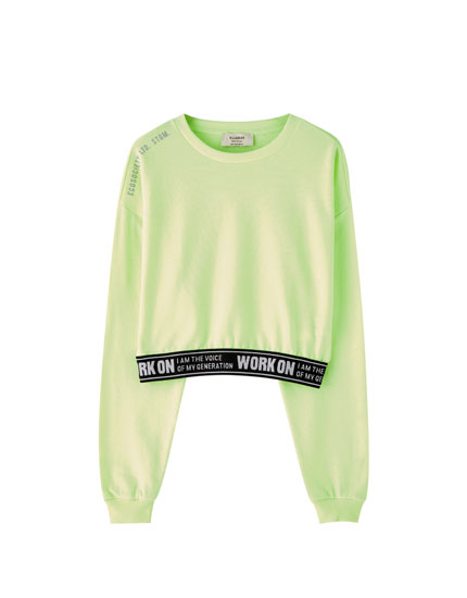 Neon sweatshirt with waistband