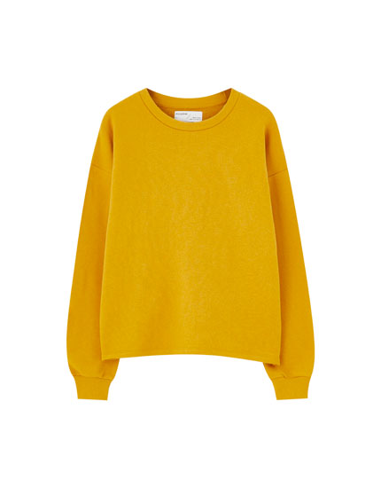 Basic coloured sweatshirt