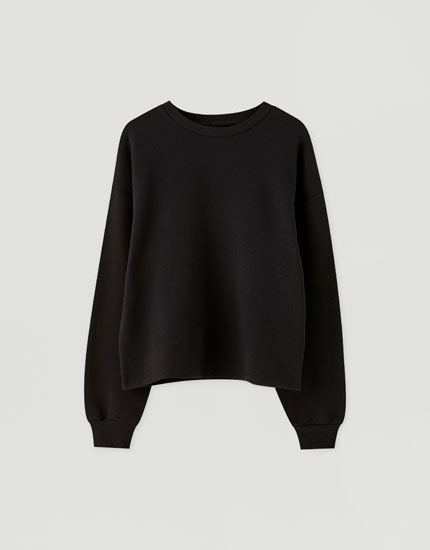 Basic, farvet sweatshirt