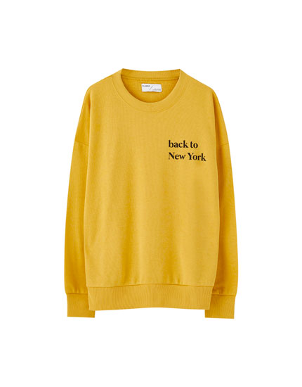 Sweatshirt with city slogans
