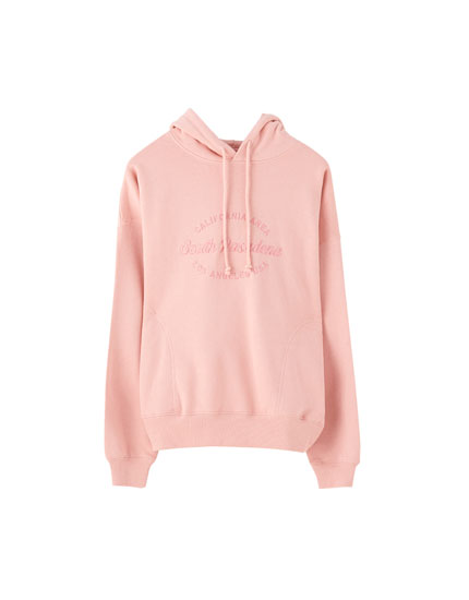 "Pink ""South Pasadena"" sweatshirt"