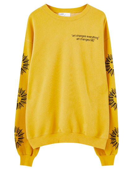 Yellow sun print sweatshirt