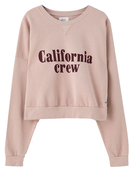 """California crew"" slogan sweatshirt"