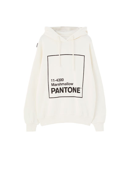 Pantone Marshmallow hoodie