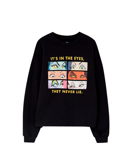 Black Villain eyes sweatshirt
