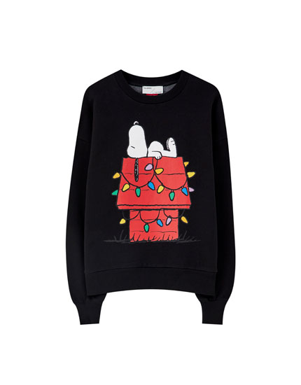 Black Snoopy sweatshirt